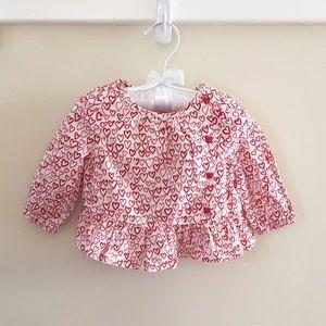 🆕 Baby Gap Heart Print Long-Sleeve Top NWT